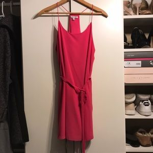 Pink Naked Zebra racerback slip dress